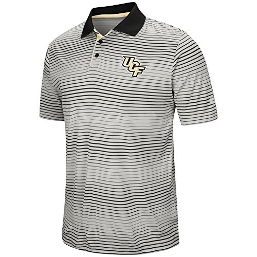 Florida Striped Shirt (UCF Central Florida Men's Polo Striped Performance T-Shirt (X-Large))