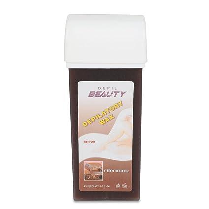 Cera depilación,Roll On Electrico Cera Depilatoria profesional 100g corporal 6 tipos de fragrancia(