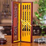 semli Authentic Calligraphy Brush Set High-Grade Wolf Shanlian Hubi Painting Pen 4-Piece