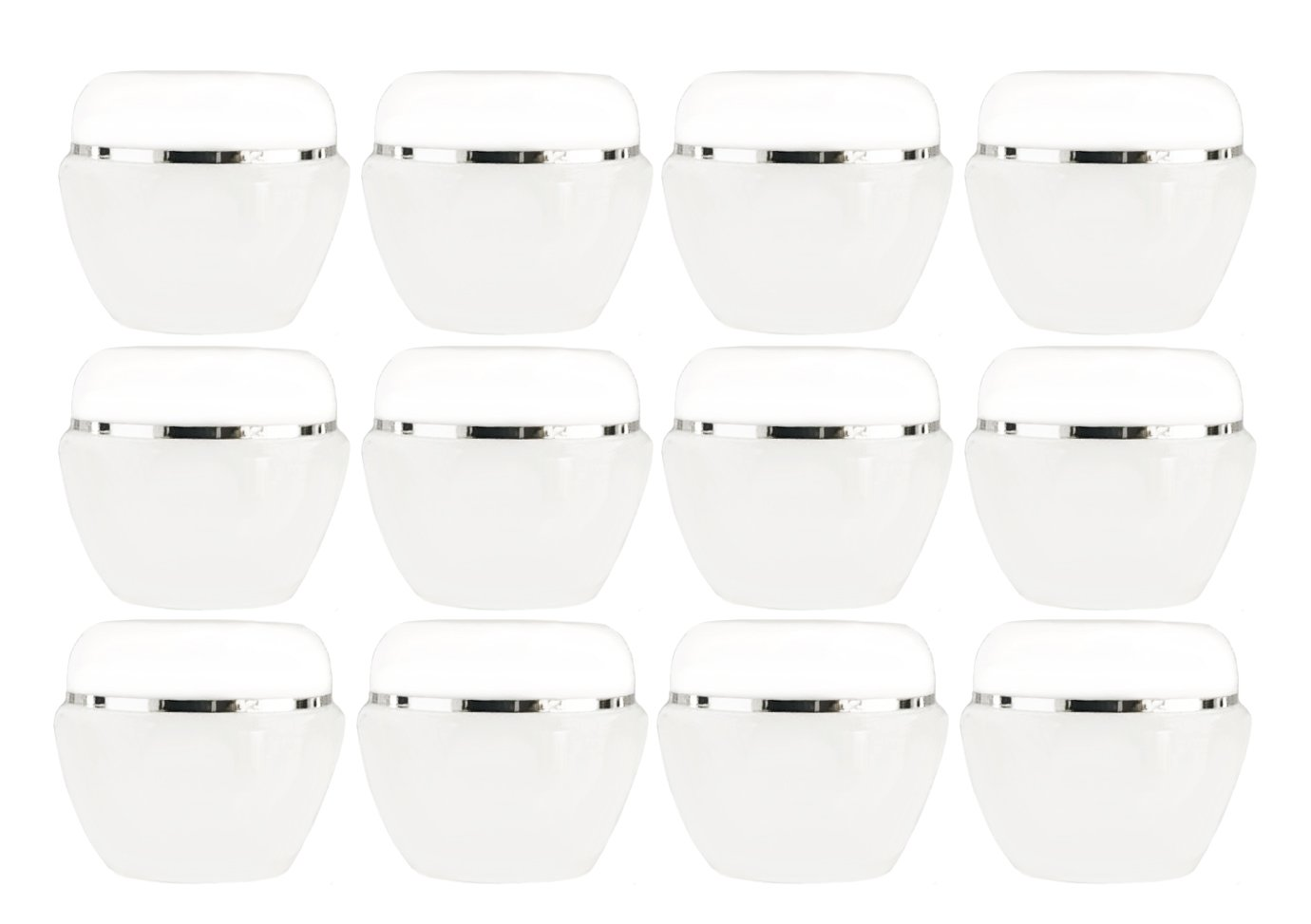 Cosmetic Jars with Lids, 50ml (1.7 oz) - Pack of 12