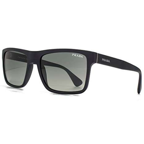 2ffd0119e5e5 Prada Conceptual Square Sunglasses in Brushed Matte Black PR 01SS SL32D0 57  57 Gradient Grey  Amazon.ca  Luggage   Bags