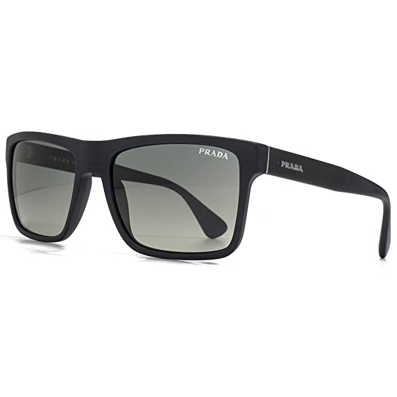 0a87a56828 Prada Conceptual Square Sunglasses in Brushed Matte Black PR 01SS SL32D0 57  57 Gradient Grey  Amazon.co.uk  Clothing