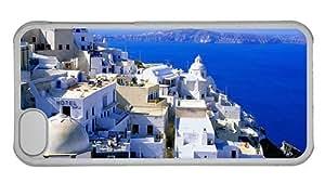 Hipster cheap iPhone 5C cover Santorini Village PC Transparent for Apple iPhone 5C