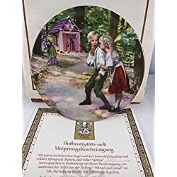 Konigszelt Bayern Charles Gehm Hansel and Gretel Collectible plate # 7423 M Bradford Grimm Fairy Tales Collection 1987