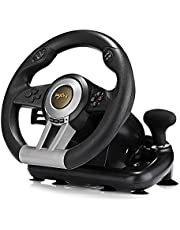 PXN V3II Racing Game Pad 180 Degree Steering Wheel USB Game Controller Computer Car Driving Simulator for PC PS3 PS4 Xbox -Black