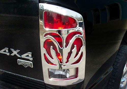 V-Tech 1327703 Chrome Ram Bighorns (Bighorns Tail Light Covers)