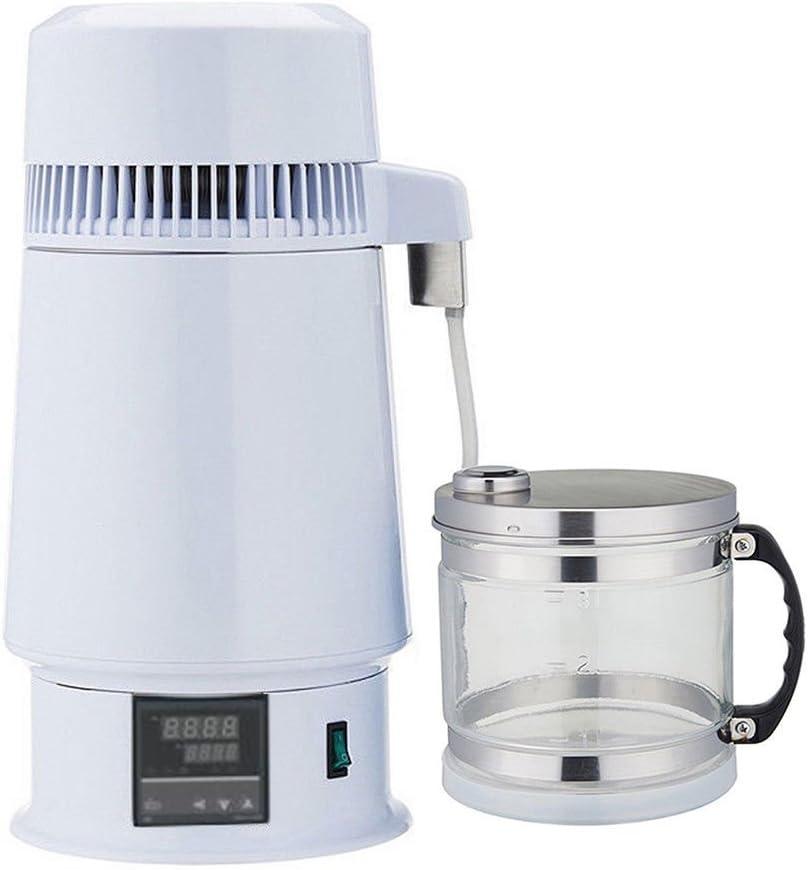 4リットルホーム純水アルコール蒸留器フィルター精製装置ボイラー醸造w /ガラス瓶