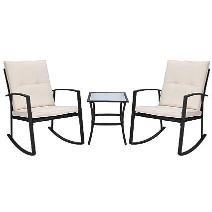 Amazon.com: MorNon - Juego de muebles de exterior de 3 ...