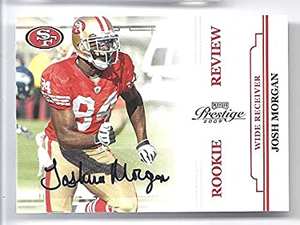 4e9ed284f JOSH MORGAN 2009 Playoff Prestige Rookie Review  33 AUTOGRAPH Card  192 of  only 250