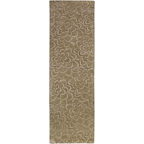 Surya SCU-7537 Sculpture Plush High/Low Pile Rug, 2-Feet 6-Inch by 8-Feet, Brindle ()