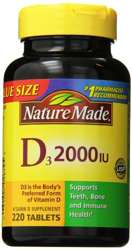 Nature Made Vitamin D3 2000 IU, Value Size, 220-Count (Vit D 2000 Iu compare prices)