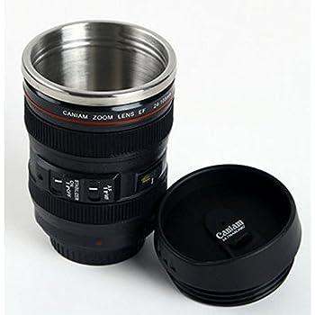 Amazon.com | Trademark Camera Lens Coffee Mug with Lid by ...