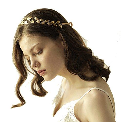 OUMOU Greek Goddess Gold Leaf Headband Women Costume Accessories - Bridal Wedding Tiara (Roman Toga Woman)