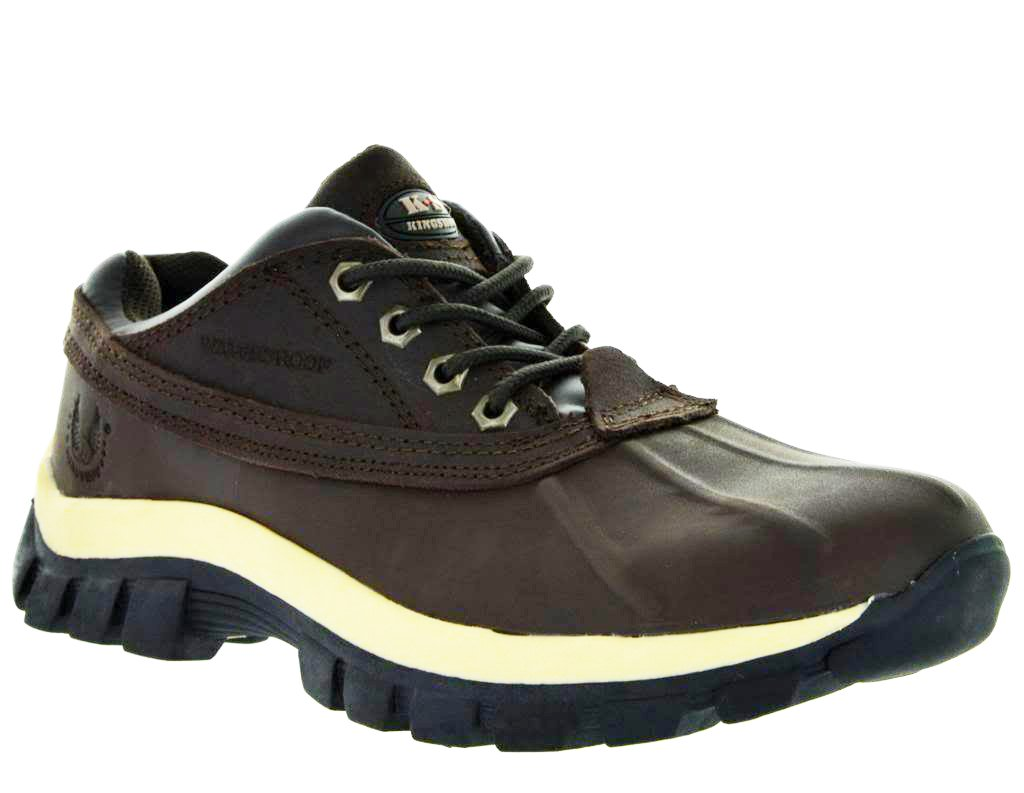 LM Men Waterproof Rubber Sole Winter Snow Boots Work Boots 7014 (10.5 Brown) | 0699949675037 ...