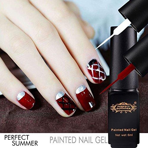 Perfect Summer New Hot 3pcs UV Nail Gel Polish Painted Nail
