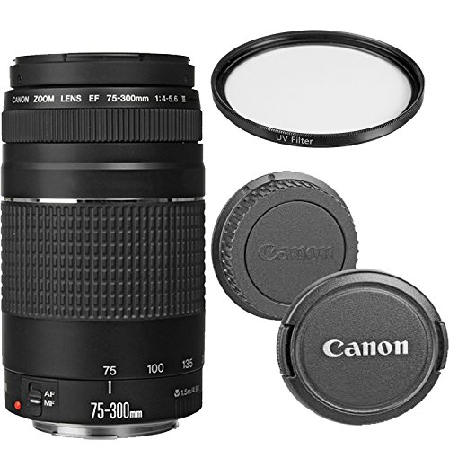 Canon EF 75-300mm f/4-5.6 III Telephoto Zoom Lens with UV Filter (Certified Refurbished)