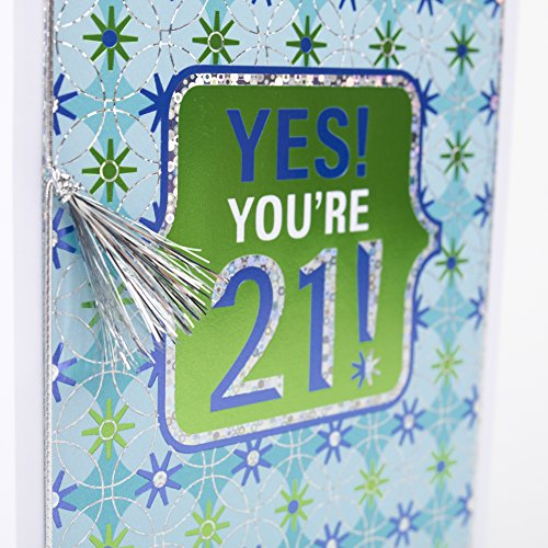 Hallmark 21st Birthday Greeting Card (Yes You're 21 Foil) Photo #5