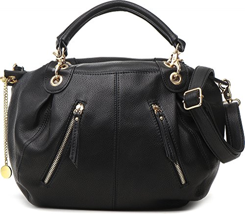MASQUENADA, borsa da donna, Borsa a mano, Bowlingbags, 36,5 x 25,5 x 12,5 cm Nero
