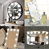 2018 Upgraded Vanity Mirror Lights Kit 10 LED Bulbs 5 Modes Dimmer Hollywood Style 7000K White Makeup Mirror Lights with 14.8 Ft Wire Dimmable Light for Dressing Table Mirrors and Bathroom(No Mirrors)