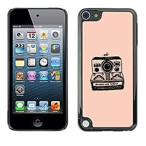 Be Good Phone Accessory // Dura Cáscara cubierta Protectora Caso Carcasa Funda de Protección para Apple iPod Touch 5 // camera peach black photography retro