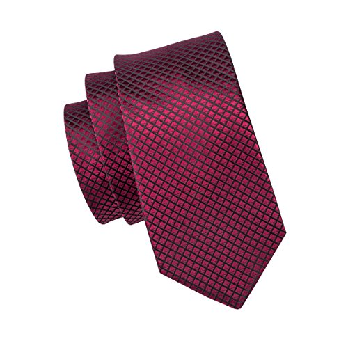 Handkerchief Mens Long Hi and Necktie Tie Red Tie Color Silk Plaid Extral Tie Paisley Necktie Set Pure 54wqxqgY