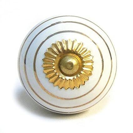 Bouton Poignée De Porte De Placard Meuble En Céramique Et Porcelaine