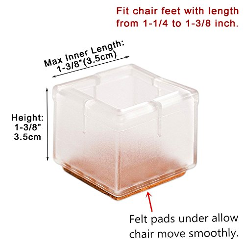 MelonBoat Chair Leg Floor Protectors With Felt Furniture Pads Chair Glides F