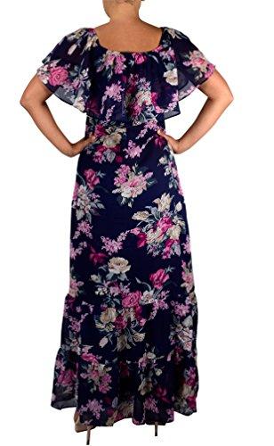 impero Couture Navy Vestito stile Peach Donna xS7n8TwY1q