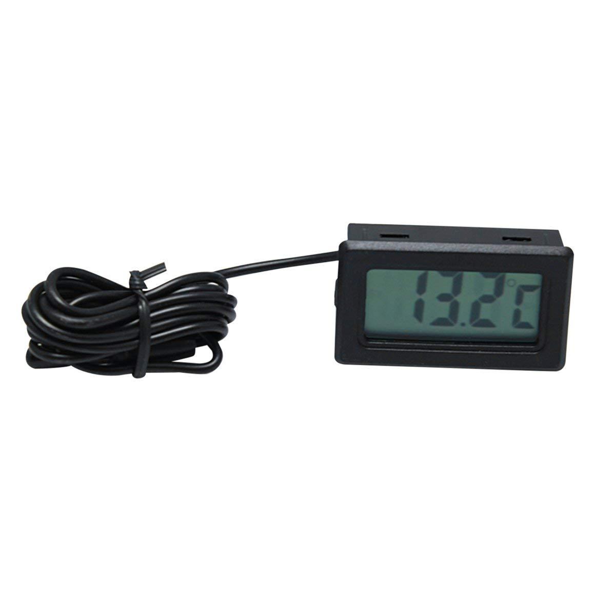 Funnyrunstore X-10 Term/ómetro Digital Integrado Temperatura Digital Medidor de Instrumentos Instrumento Calibrador con sonda Acuario Refrigerador