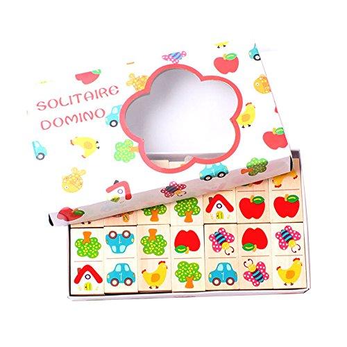 GYBBER&MUMU Little star Beech Animal Dominoes Children's Educational Early Childhood Cognitive Domino Blocks Intelligence Garden Jigsaw Puzzle