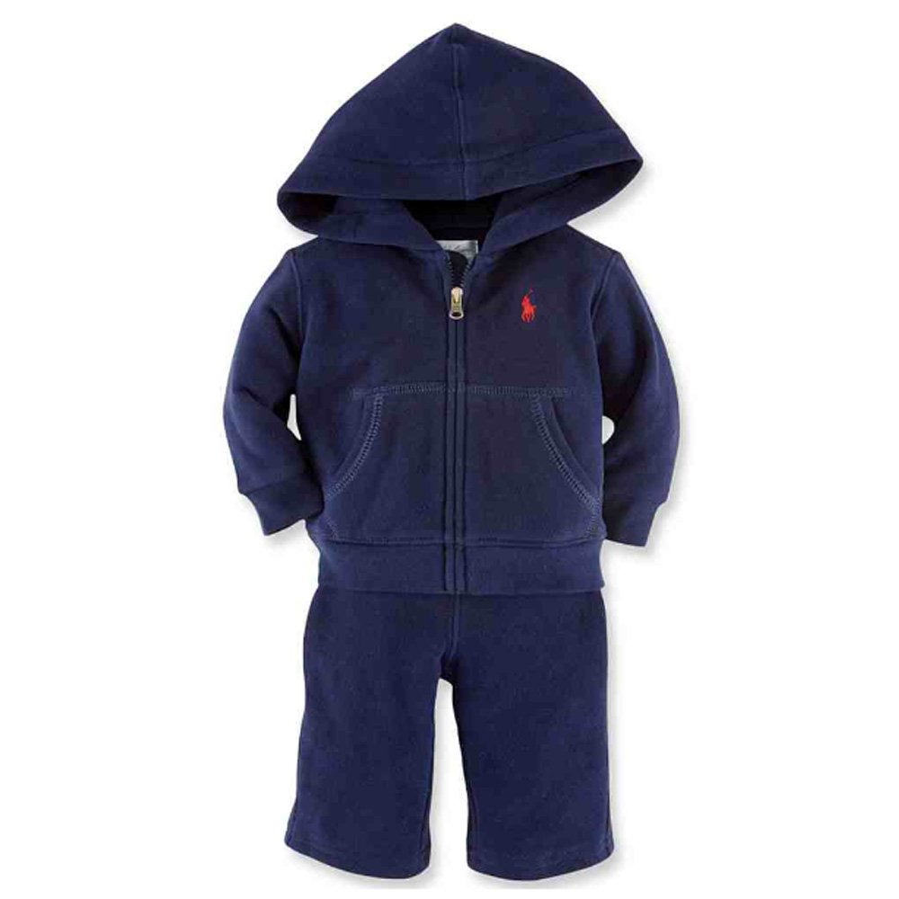 21c4b7078 Amazon.com  Ralph Lauren Polo Baby Boys Fleece Hoodie Jacket   Pant Set (9  Months)  Baby