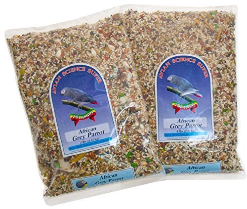 e Super African Grey Bird Food for Parrots - 4 Lb (Pack of 2) (Avian Bird Seed)