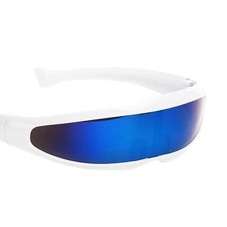 14b628acc2 Baoblaze 2 Piezas Gafas de Sol Diversión Azul Metálico Plata Futurista  Soldado Extranjero Robot: Amazon.es: Hogar