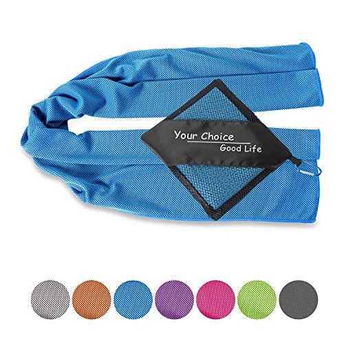 Your Choice Cooling Towel Golf, Workout, Gym, Fitness, Yoga, Camping, Hiking, Bowling, Travel, Outdoor Sports Towel for Instant Cooling Relief