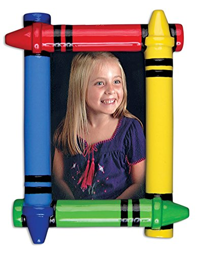 Grantwood Technology Personalized Christmas Ornaments Picture Frame-Crayon Frame