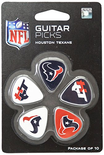 Woodrow Guitar by The Sports Vault NFL Houston Texans Guitar Picks, 10 Pack