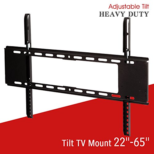 Tilt tv wall mount bracket black 22 inch – 65 inch dual arm slim lcd led plasma - Angeles In Los Macy