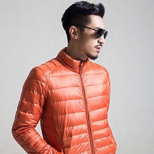 Hgfjn männer sind dünner Baumwolle männlichen wintermantel XL männer matelkragen,Orange,s