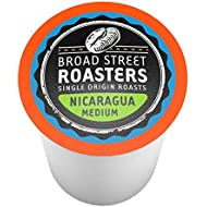 Broad Street Roasters Gourmet Coffee, Nicaragua, Compatible with 2.0 K-Cup Brewers, 40 Count
