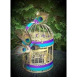 Peacock Birdcage Centerpiece