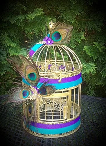 Peacock Birdcage Centerpiece ()