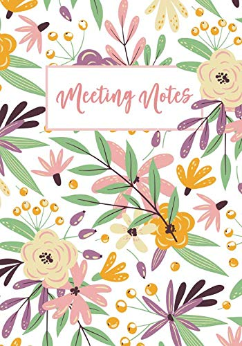 Meeting Notes: Business Notebook for Meetings and Organizer | Taking Minutes Record Log Book Action Items & Notes | Secretary Logbook Journal