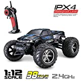 Hosim All Terrain RC Car 9112, 38km/h 1/12 Scale Radio Controlled Electric Car - Offroad 2.4Ghz 2WD Remote Control Truck - Best Christmas Gift for Kids and Adults (Blue)