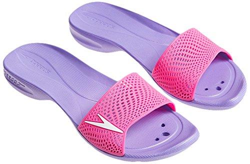 Speedo Atami II Max - Chanclas para mujer morado y rosa