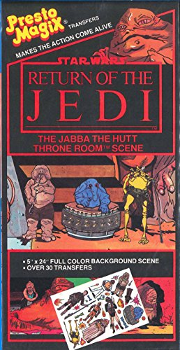 - Star Wars Return of the Jedi Presto Magix Transfers / Jabba the Hutt Throne Room Scene / 1983