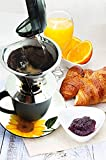 Coffee Dripper Stainless Steel - Reusable Permanent Pour Over Filter Cone and Brewer - Drip Coffee Maker - Double Layer Mesh Filter and Coffee Scoop with Bag Clip - Large Single Serve Cup