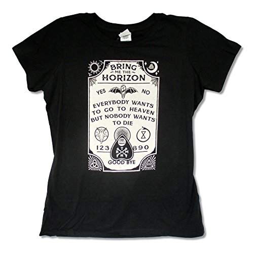 Juniors Bring Me the Horizon Ouija Board Black Slim Fit Baby Doll T Shirt (Small)