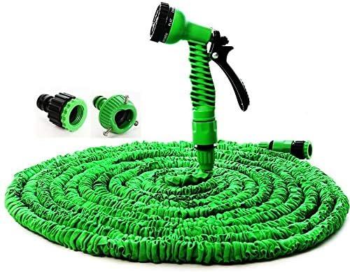 Suudada Telescopic Hose Silicone Flexible Hose Hose Plastic Hose Hose Watering Car Wash Spray-France_75Ft 22.5M_White