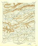 YellowMaps Mt Ida AR topo map, 1:125000 Scale, 30 X 30 Minute, Historical, 1890, Updated 1945, 20.8 x 17.1 in - Paper