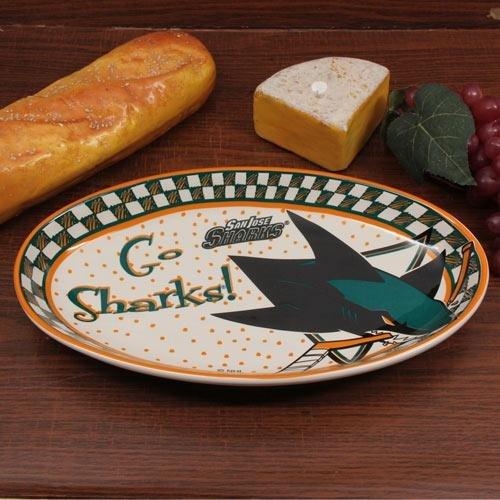 Memory Company NHL San Jose Sharks Game Day Ceramic Platter, One Size, Multicolor